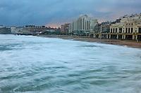 Europe/France/Aquitaine/64/Pyrénées-Atlantiques/Pays-Basque/Biarritz: Le Front de mer et le  Casino de style Art déco,