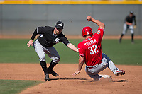 Chicago White Sox shortstop Jake Elmore (15) during a Minor League Spring Training game against the Cincinnati Reds at the Cincinnati Reds Training Complex on March 28, 2018 in Goodyear, Arizona. (Zachary Lucy/Four Seam Images)