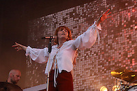 Florence and the Machine perform during the Governors Ball Music Festival on Randall's Island Park in New York, Friday June 5, 2015.  AFP PHOTO/TREVOR COLLENS