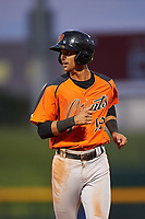AZL Giants Orange Abdiel Layer (19) during an Arizona League game against the AZL Cubs 1 on July 10, 2019 at Sloan Park in Mesa, Arizona. The AZL Giants Orange defeated the AZL Cubs 1 13-8. (Zachary Lucy/Four Seam Images)