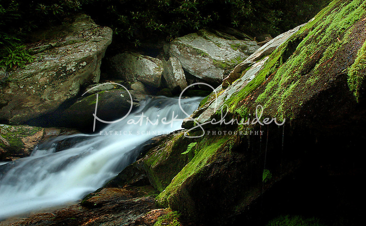 The Harper Creek Waterfall in the North Carolina mountains.