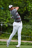 4th June 2021; Dublin, Ohio, USA; Chase Johnson (USA) watches his tee shot on 15 during the Memorial Tournament Rd2 at Muirfield Village Golf Club on June 4, 2021 in Dublin, Ohio.