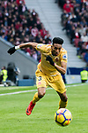 Johan Andres Mojica Palacio of Girona FC in action during the La Liga 2017-18 match between Atletico de Madrid and Girona FC at Wanda Metropolitano on 20 January 2018 in Madrid, Spain. Photo by Diego Gonzalez / Power Sport Images