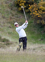 Saturday 30th May 2015; Jaco Van Zyl, South Africa,, plays his approach to the 9th green<br /> <br /> Dubai Duty Free Irish Open Golf Championship 2015, Round 3 County Down Golf Club, Co. Down. Picture credit: John Dickson / SPORTSFILE