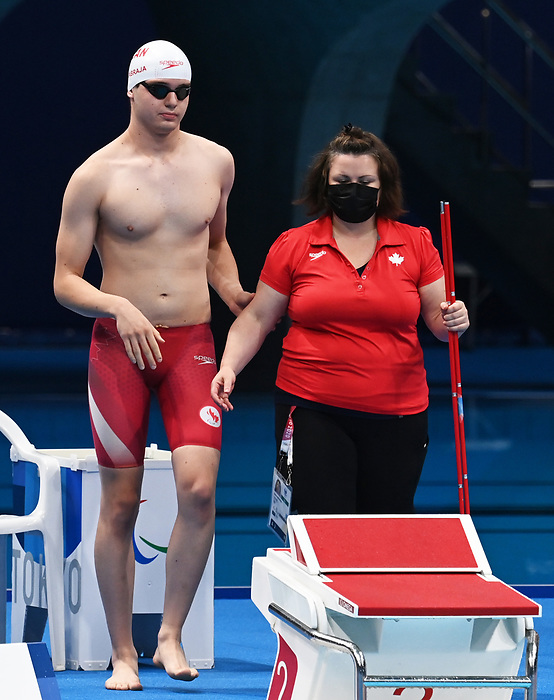 Matthew Cabraja, Tokyo 2020 - Para Swimming // Paranatation.<br /> Matthew Cabraja competes in the men's 100m butterfly // Matthew Cabraja participe au 100 m papillon hommes. 09/03/2021.