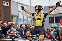 race winner Dylan Groenewegen (NED/Lotto NL - Jumbo).  <br /> <br /> 103th Kampioenschap van Vlaanderen 2018 (UCI 1.1)<br /> Koolskamp – Koolskamp (186km)