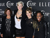 HOLLYWOOD, LOS ANGELES, CA, USA - APRIL 22: Sarah McLachlan, Betty Who, Robbie Myers, Angel Haze at the 5th Annual ELLE Women In Music Concert Celebration presented by CUSP by Neiman Marcus held at Avalon on April 22, 2014 in Hollywood, Los Angeles, California, United States. (Photo by Xavier Collin/Celebrity Monitor)