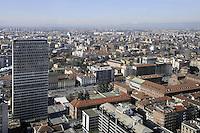 - Milan, the city's panorama from the 31st floor of the Pirelli skyscraper, headquarters of Lombardy Region Authority<br /> <br /> - Milano, panorama della citt? dal 31mo piano del grattacielo Pirelli, sede della Regione Lombardia