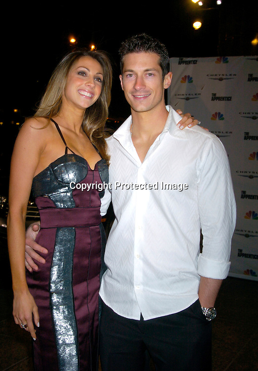 """Katrina Campins with fiance Ben Moss ..at """"The Apprentice"""" finale Party on April 15, 2004 at Trump Tower. Photo by Robin Platzer, Twin Images"""