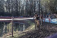 Lars van der Haar (NED/Telenet Fidea Lions) chasing.<br /> <br /> men's elite race<br /> Flandriencross Hamme / Belgium 2017
