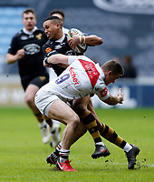 Photo: Richard Lane/Richard Lane Photography. Wasps v Leicester Tigers. Anglo-Welsh Cup. 04/02/2018. Wasps' Marcus Watson attacks.