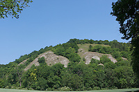 Südexponierte Kalkhänge im Kyffhäuser, Trockenrasen, Trockenbiotop, Thüringen, Deutschland