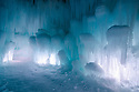 A wild, frozen adventure awaits explorers of the Ice Castle at Loon Mountain.