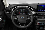 Car pictures of steering wheel view of a 2020 Ford Kuga Titanium 5 Door SUV Steering Wheel