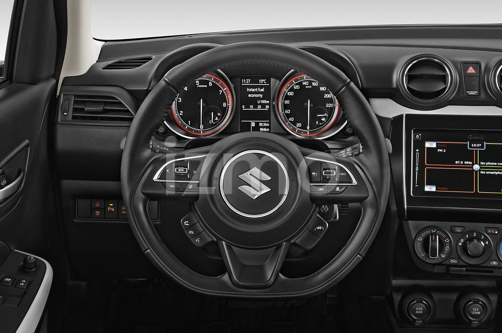 Car pictures of steering wheel view of a 2021 Suzuki Swift GL-Plus-Hybrid 5 Door Hatchback Steering Wheel