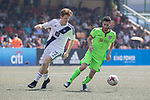 Cagliari Calcio (in green) vs HKFC Captain's Select (in white) during their Main Tournament Shield Semi-Final match, part of the HKFC Citi Soccer Sevens 2017 on 28 May 2017 at the Hong Kong Football Club, Hong Kong, China. Photo by Chris Wong / Power Sport Images