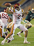 Iowa State Cyclones quarterback Steele Jantz (2) in action during the game between the Iowa State Cyclones and the Baylor Bears at the Floyd Casey Stadium in Waco, Texas. Baylor defeats Iowa State 49 to 26.