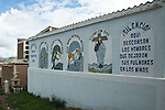 """Miner's mausoleum in Potosí, Bolivia.  The inscription reads """"Silence!  Here rest the men who left their lungs in the mines."""""""