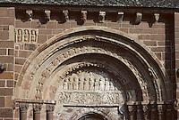 Europe/France/Auvergne/12/Aveyron/Espalion: L'église de Perse - Portail du Tympan
