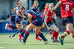 Mannheim, Germany, September 12: During the 1. Bundesliga women fieldhockey match between Mannheimer HC (blue) and Ruesselsheimer RK (red) on September 12, 2020 at Am Neckarkanal in Mannheim, Germany. Final score 2-0 (HT 1-0). (Copyright Dirk Markgraf / www.265-images.com) *** Isabella Schmidt #31 of Mannheimer HC