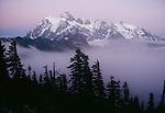 Mt. Shuksan surrounded by fog, North Cascades National Park, Washington, USA