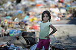 A Roma girl in the Maxsuda neighborhood of Varna, Bulgaria, where many Turkish-speaking Roma live.