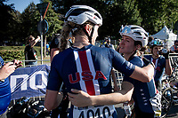 Tayler Wiles (USA/Trek-Segafredo) & Ruth Winder (USA/Trek-Segafredo) post-race<br /> <br /> Women Elite - Road Race (WC)<br /> from Antwerp to Leuven (158km)<br /> <br /> UCI Road World Championships - Flanders Belgium 2021<br /> <br /> ©kramon