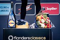 World Champion Julian Alaphilippe (FRA/Deceuninck-QuickStep) atop his podium prices<br /> <br /> 60th De Brabantse Pijl 2020 - La Flèche Brabançonne (1.Pro)<br /> 1 day race from Leuven to Overijse (BEL/197km)<br /> <br /> ©kramon