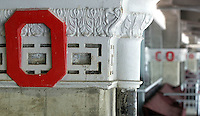 Original details from the 1921 construction remain part of the new Ohio Stadium renovation Thursday, May 20, 2004 in Columbus, Ohio.
