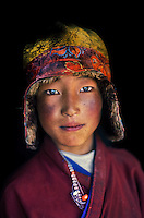 Young Buddhist pilgrim, Degang Valley, Kham, Tibet 2006 .