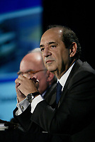 Montreal (QC) CANADA, May 7, 2007-<br /> <br />  Alain J.P. Belda, Chairman and Chief Executive Officer of Alcoa annonce that<br /> Alcoa to Offer to Acquire Alcan for US$73.25 Per Share in Cash and Stock, 'ay 7, 2007 at a news conference in Montreal, CANADA,<br /> <br /> <br /> photo : (c) images Distribution