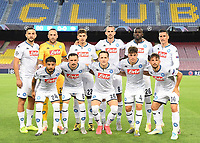 Napoli team line up during the Champions League round of 16 second leg football match between Barcelona and SSC Napoli at Camp Nou in Barcelona (Spain), August 8th, 2020. <br /> Photo UEFA / Press Office / Insidefoto