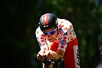 Polka Dot Jersey Tim Wellens (BEL) Lotto-Soudal in action during Stage 13 of the 2019 Tour de France an individual time trial running 27.2km from Pau to Pau, France. 19th July 2019.<br /> Picture: ASO/Pauline Ballet | Cyclefile<br /> All photos usage must carry mandatory copyright credit (© Cyclefile | ASO/Pauline Ballet)