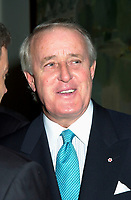 Brian Mulroney,<br /> ( seen in an April 4th 2001 file photo taken , after the Quebecor World annual meeting, in Montreal)<br /> has been chosen to replace Jean Neveu as <br /> Chairman of the Board of Quebecor World Inc.<br /> While Mr Neveu become Chairman of the Board of TVA Group.<br /> <br /> Mr. Mulroney was Prime Minister of Canada from 1984 to 1993 and is currently Senior Partner in the Montreal-based law firm, Ogilvy Renault. He is a director of the following corporations which file reports pursuant to the Exchange Act: Archer Daniels Midland Company Inc., Barrick Gold Corporation, TrizecHahn Corporation Ltd., Quebecor, Inc. and Quebecor World<br /> <br />  (Pierre Roussel /iPhoto.ca)