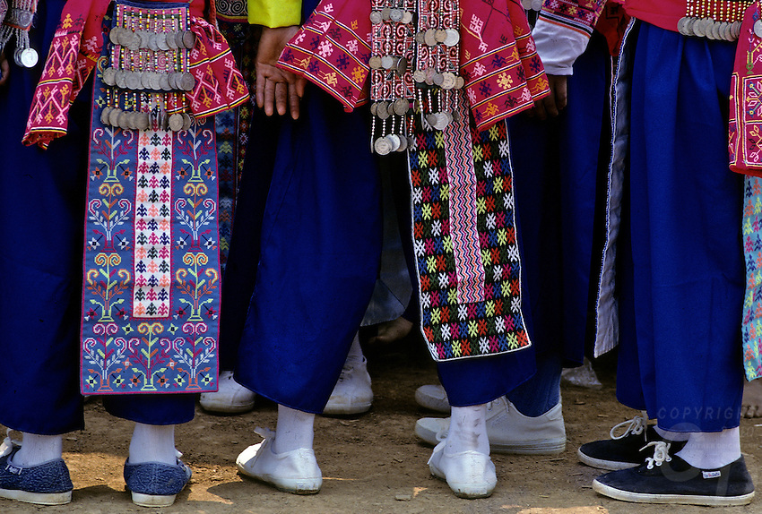 Traditional women from the Muong Hilltribes in Northern Thailand
