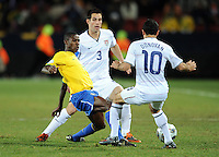 Ramires (left) of Brazil and Landon Donovan (10) of USA. Brazil defeated USA 3-2 in the FIFA Confederations Cup Final at Ellis Park Stadium in Johannesburg, South Africa on June 28, 2009.