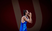 2020 Tokyo Olympic Games, Olympische Spiele, Olympia, OS Sunday - Athletics, Olympic Stadium, Tokyo, Japan 1/8/2021 Italys Gianmarco Tamberi celebrates winning joint gold in the Mens High Jump final with Qatars Mutaz Essa Barshim Gianmarco Tamberi celebrates winning joint gold in the Mens High Jump final with Mutaz Essa Barshim 1/8/2021 PUBLICATIONxNOTxINxUKxIRLxFRAxNZL Copyright: x INPHO/MorganxTreacyx AZ0I9026 <br /> PhotoImago  / Insidefoto ITALY ONLY