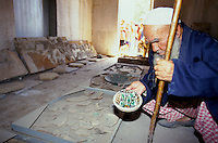 A guardian in a archaeological storehouse in Danghara Southern of Dushanbe