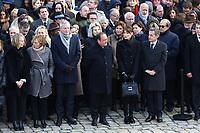 FranÁoise Nyssen - Muriel Penicaud - Bruno Lemaire - Francois Hollande - Nicolas Sarkozy - Carla Bruni-Sarkozy - Hommage National ‡ JEAN D'ORMESSON - 08/12/2017 - Hotel des Invalides - Paris - France