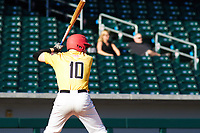 Scott Prieto (10) of Paso Robles High School in Paso Robles, California during the Baseball Factory All-America Pre-Season Tournament, powered by Under Armour, on January 13, 2018 at Sloan Park Complex in Mesa, Arizona.  (Freek Bouw/Four Seam Images)