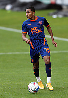 Blackpool's Demi Mitchell wears the all new 'Get Vocal' sponsored third kit<br /> <br /> Photographer Rich Linley/CameraSport<br /> <br /> The EFL Sky Bet League One - Crewe Alexandra v Blackpool - Saturday 17th October 2020 - Gresty Road - Crewe<br /> <br /> World Copyright © 2020 CameraSport. All rights reserved. 43 Linden Ave. Countesthorpe. Leicester. England. LE8 5PG - Tel: +44 (0) 116 277 4147 - admin@camerasport.com - www.camerasport.com