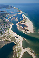 Pleasant bay Aerial view north to Nauset beach (right), Chatham, Cape Cod, MA