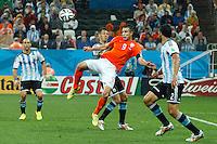 Robin van Persie of the Netherlands performs an overhead kick