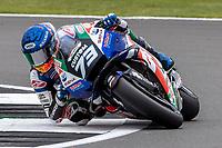 28th August 2021; Silverstone Circuit, Silverstone, Northamptonshire, England; MotoGP British Grand Prix, Qualifying Day; LCR Honda Castrol rider Alex Marquez on his Honda RC213V
