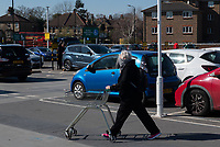 Shoppers outside Morrisons in Sidcup, Kent during the Coronavirus (COVID-19) outbreak where travel has been restricted across the country at Sidcup, England on 25 March 2020. Photo by Alan Stanford/PRiME Media Images