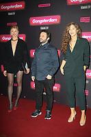 MONA WALRAVENS, ROMAIN LEVY, MANON AZEM, AVANT-PREMIERE DU FILM 'GANGSTERDAM' AU GRAND REX A PARIS, FRANCE, LE 23/03/2017.
