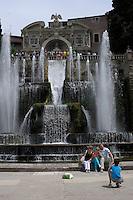 Fontana di Nettuno.Fountain of Neptune..Villa d'Este di Tivoli, patrimonio mondiale dell' UNESCO..Villa d'Este is included in the UNESCO world heritage list.