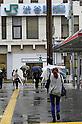Typhoon hits Japan on October 16th 2013