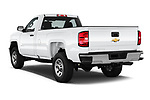Car pictures of rear three quarter view of a 2018 Chevrolet Silverado 2500HD Work Truck Regular Cab  2 Door Pick Up angular rear