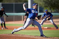 Los Angeles Dodgers pitcher Logan Crouse (60) during an Instructional League game against the Chicago White Sox on October 15, 2016 at the Camelback Ranch Complex in Glendale, Arizona.  (Mike Janes/Four Seam Images)